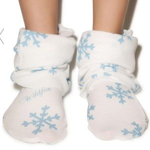 Wildfox slouch socks winter Rare one size